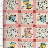 2 3/4 yd pc -- American Folk & Fabric Patchwork Pals Animal Print Home Decorating Fabric