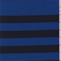 Royal/Navy Stripe Ribbed Knit