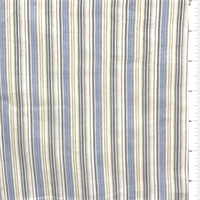 *2 7/8 YD PC--Yellow/Powder Blue Stripe Cotton Lawn