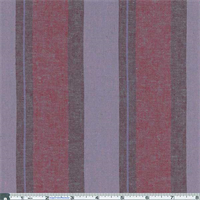 *2 1/4 YD PC--Wine Mix/Dusty Purple Stripe Shirting