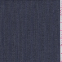 *1 1/8 YD PC--Navy Dotted Stripe Poly Blend Suiting
