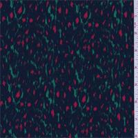 *2 3/4 YD PC--Green/Black/Red Cheetah Watermark Peachskin