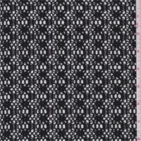 Black Lattice Crochet Lace