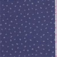 Ink Blue Confetti Tuft Chiffon