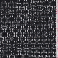 Black Basketweave Lace