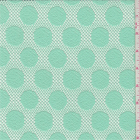 Mint Polka Dot Lace