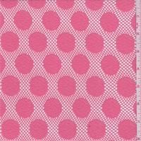 Coral Pink Polka Dot Lace