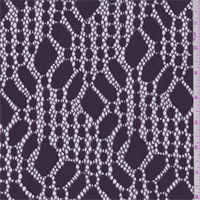 Dark Plum Modern Lace