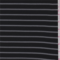 Black/Pewter Stripe Thermal Knit