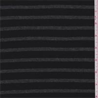 Black/Charcoal Stripe Thermal Knit