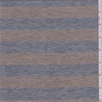 Heather Grey/Tan Stripe Sweater Knit