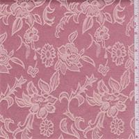 Coral Pink/Beige Floral Satin Jacquard