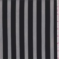 Black Satin Stripe Mesh