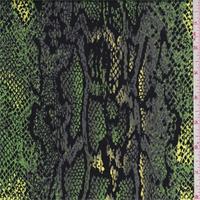 Lime Snakeskin Print Sateen