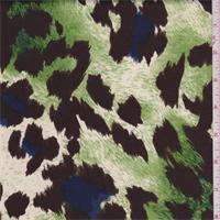 Lime/Brown Animal Print Sateen