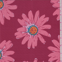 ITY Pale Red Daisy Jersey Knit