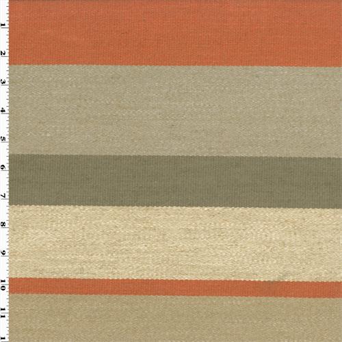 Grey orange modern stripe home decorating fabric for Modern home decor fabric