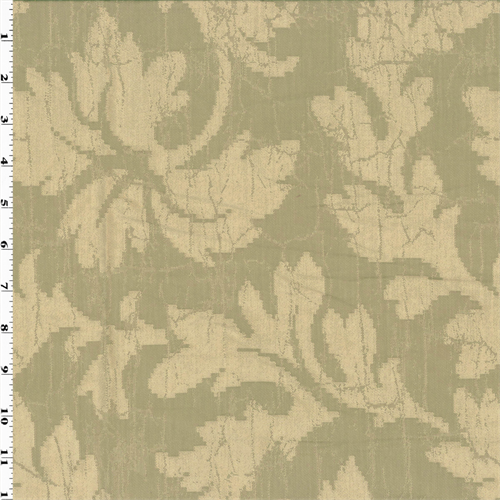 Pattern # E618 Floral Ivory And Silver Damask Upholstery And Window Treatment Fabric By The Yard