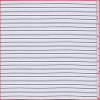 White/Black Stripe Silk Faille
