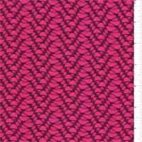 Deep Pink/Black Novelty Stretch Knit