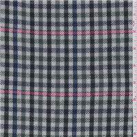 *3 1/8 YD PC--Grey Plaid Suiting