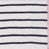 White/Onyx Stripe Sweater Knit