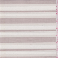 Ivory/Cocoa Stripe Gauze Shirting