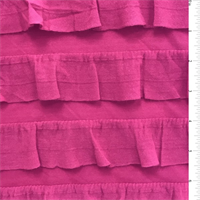 *3 YD PC--Hot Pink Ruffle Knit
