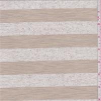 Oatmeal/Sand Stripe Jersey Knit