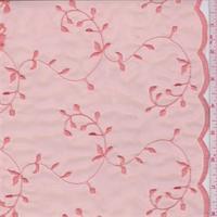 Coral Vine Embroidered Organza