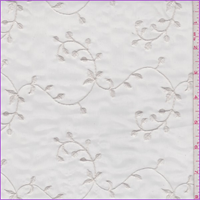 Pearl White Vine Embroidered Organza