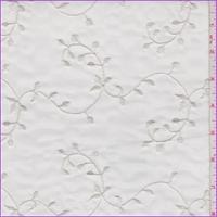 Pearl White Vine Embroidered Organza
