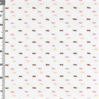 *2 3/4 YD PC---White/Pink/Brown Dot Clip Cotton Shirting
