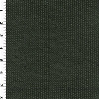 *1 3/4 YD PC--Black/Beige Chevron Wool Crepe Suiting