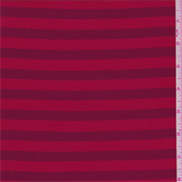 Red/Burgundy Stripe Jersey Knit