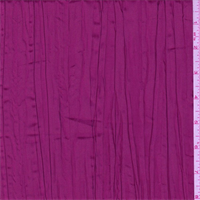 Iridescent Berry Pink Crushed Polyester Taffeta