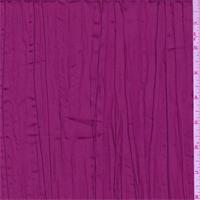 Iridescent Berry Pink Crushed Polyester Taffeta