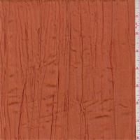 Iridescent Dark Tangerine Crushed Polyester Taffeta