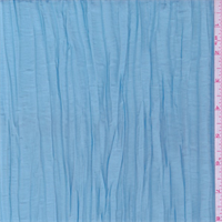 Tranquil Blue Crushed Polyester Taffeta