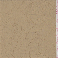 Golden Tan Crushed Polyester Taffeta