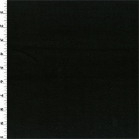*2 YD PC--Black Wool Herringbone Double Knit