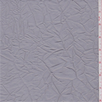 Silver Grey Crushed Polyester Taffeta