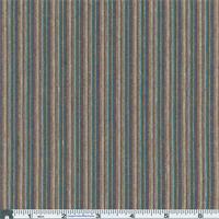 *5 YD PC--Blue/Earth/Teal Awning Stripe Plaid