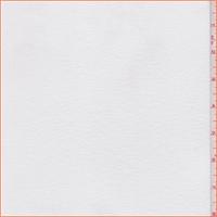 *3 YD PC--White Fleece Back Jersey Knit