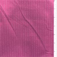 *4 7/8 YD PC--Fuchsia/Silver Pinstripe Suiting