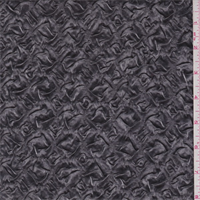 Metallic Graphite Embossed Satin Charmeuse
