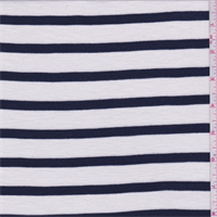 White/Navy Stripe Knit
