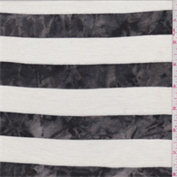 Ivory/Black Marble Stripe T-Shirt Knit