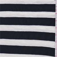 White/Black Stripe Rayon Sweater Knit