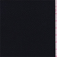 *3 YD PC--Black/Silver Pin Dot Jersey Knit